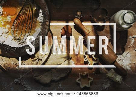 Summer Vacation Fun Holiday Relaxation Break Concept