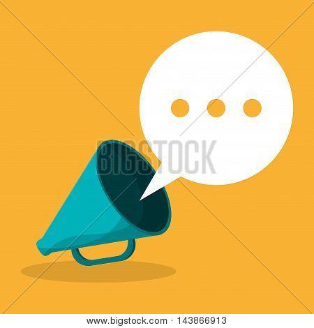 megaphone bubble message communication icon. Colorful design. Vector illustration