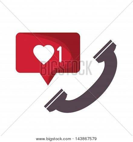 phone mail message email send communication icon. Colorful design. Vector illustration