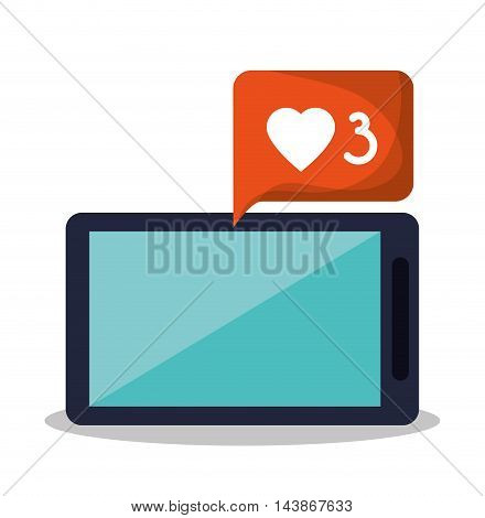 smartphone bubble mail message email send communication icon. Colorful design. Vector illustration