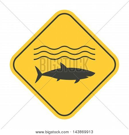Shark Danger Yellow Sign