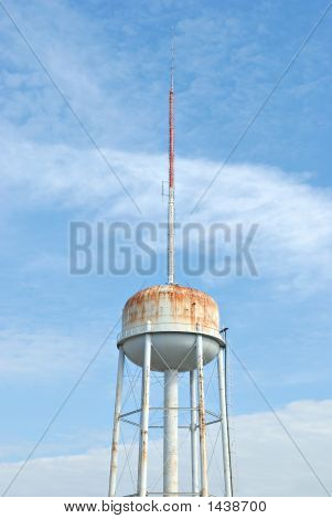 Water Reservoir With Communication Tower