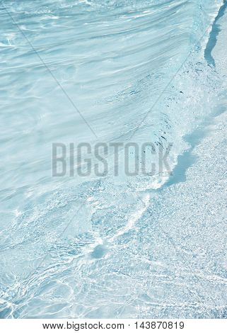 Fresh clear blue water shot for a background banner copy space and events