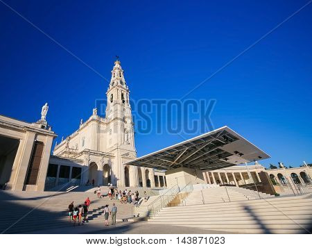 Basilica Of Our Lady Of The Rosary In Fatima, Portugal