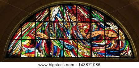 Stained Glass - Immaculate Heart Of Mary In Fatima