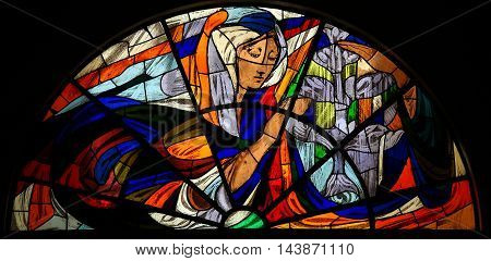 Stained Glass - Apparition Of Virgin Mary In Fatima