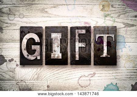 Gift Concept Metal Letterpress Type