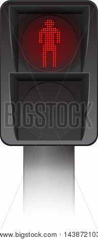 Pedestrian Traffic light Led backlight red stop walking