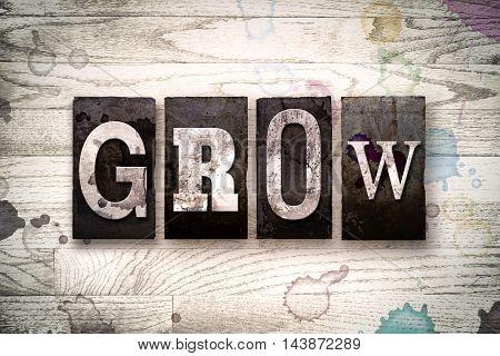 Grow Concept Metal Letterpress Type