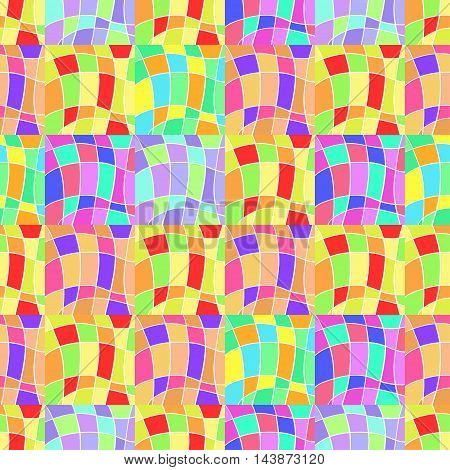 seamless pattern with colored scraps vector illustration