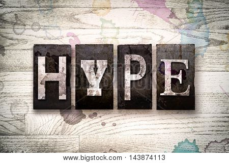 Hype Concept Metal Letterpress Type