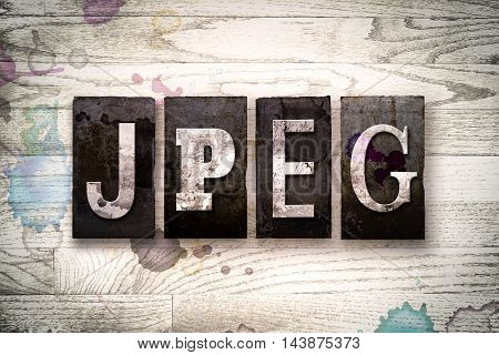 Jpeg Concept Metal Letterpress Type