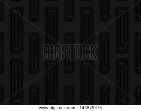 Black Textured Plastic Double Rectangles