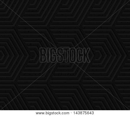 Black Textured Plastic Overlapping Hexagons