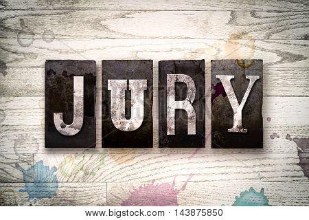 Jury Concept Metal Letterpress Type