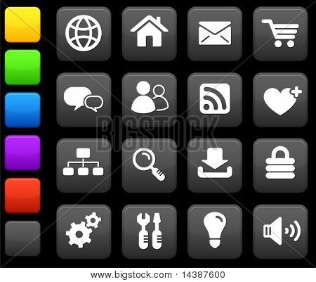Original Vektor-Illustration: Internet Design-Icon-Set