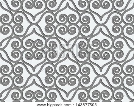 Perforated Swirly Grid With Hearts
