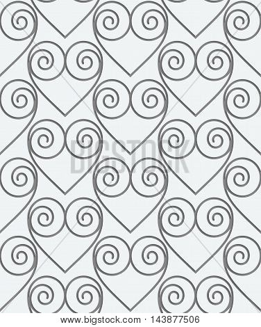 Perforated Swirly Hearts In Grid