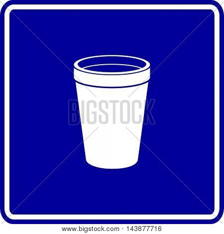 polystyrene foam cup symbol