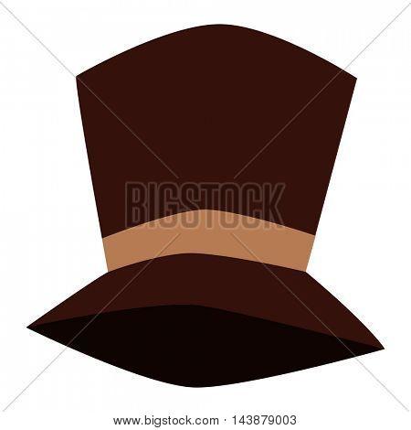 Tall hat vector illustration.