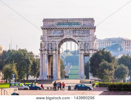 Arco Della Vittoria Genoa (hdr)