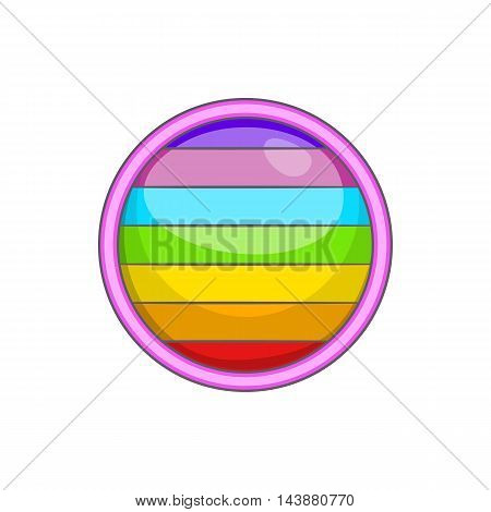 Circle in colours of LGBT icon in cartoon style isolated on white background. Tolerance symbol