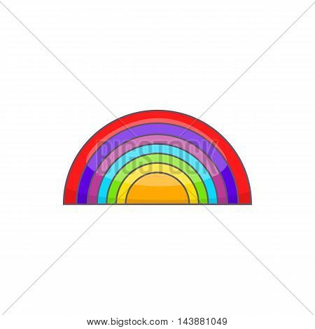 Rainbow LGBT icon in cartoon style isolated on white background. Tolerance symbol