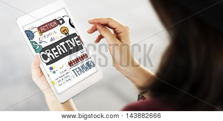Creative Ideas Connection Browsing Lifestyle Concept