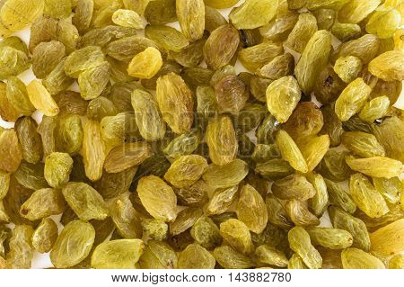 Golden yellow raisins filled in as background