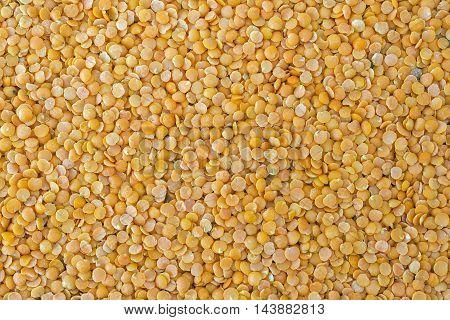 Split red lentils (masoor dal) filled in as background