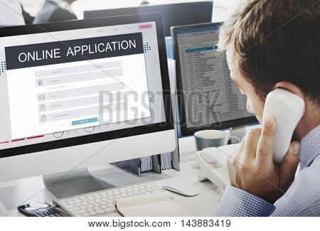 Online Application Membership Registration Follow Concept