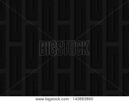 Black Textured Plastic Rectangles With Whole