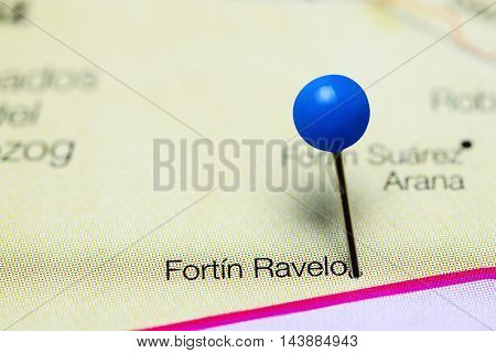 Fortin Ravelo pinned on a map of Bolivia
