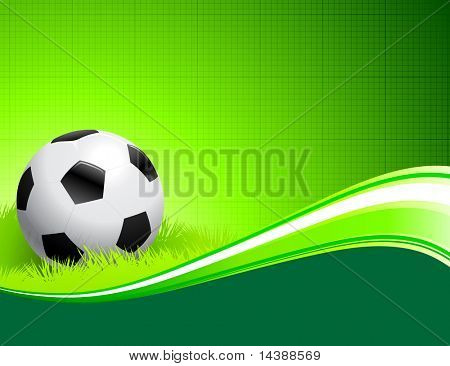 Soccer Ball on abstract green Background Original Vector Illustration AI8 Compatible