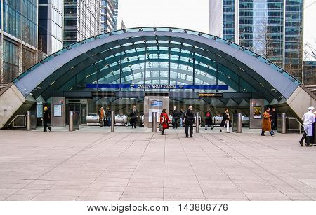 Canary Wharf Tube Station (hdr)