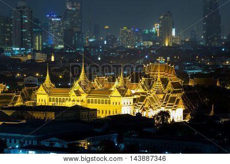 Grand Palace at twilight time, Bangkok Thailand