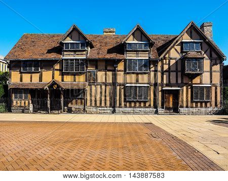 Shakespeare Birthplace In Stratford Upon Avon (hdr)