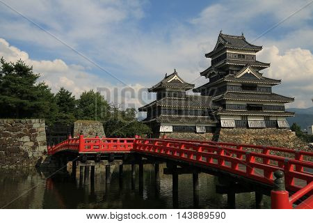 The famous Matsumoto Castle, home of an ancient samurai family