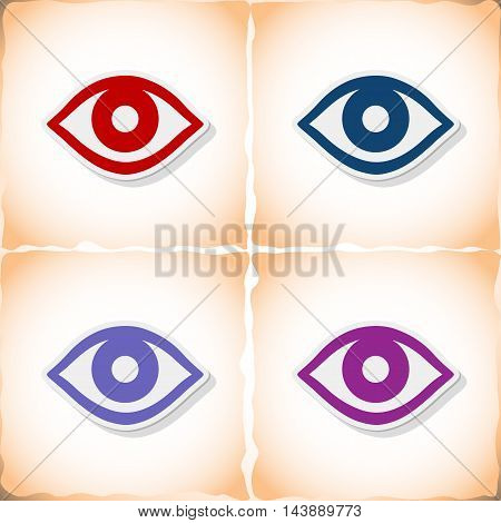 Eye. Abstract image Medicine object. Vector illustration.