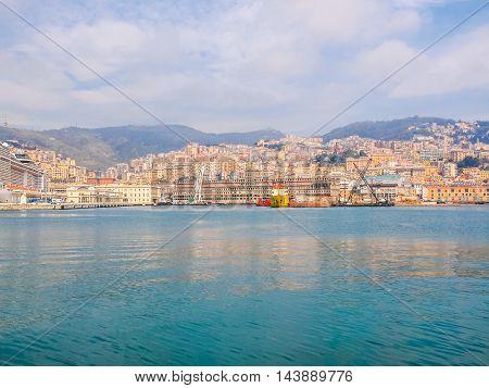 Porto Vecchio Old Harbour In Genoa (hdr)