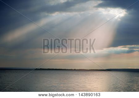 Cloud Water Light Beam