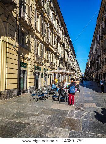 Via Garibaldi In Turin (hdr)
