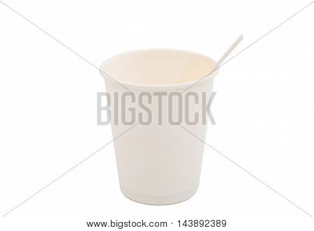 paper cup drink on a white background