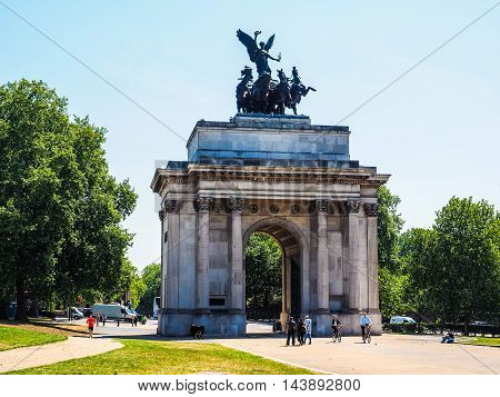 Wellington Arch In London (hdr)