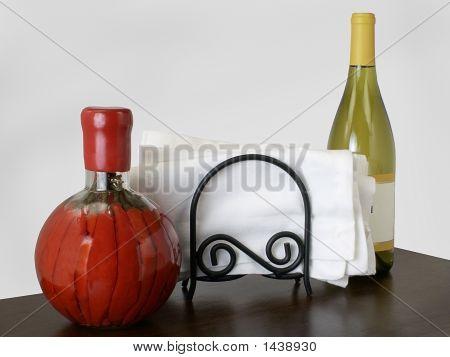 Chilies, Napkins, & Wine
