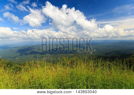 Landscape with beautiful clouds and mountain views real scene without any light effects