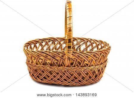 wicker basket decoration on a white background