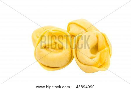tortellini  italian traditional cooking on a white background