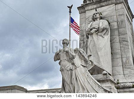 Christopher Columbus Statue At Columbus Circle