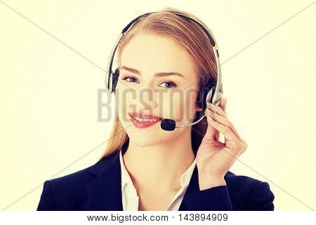 Call center woman